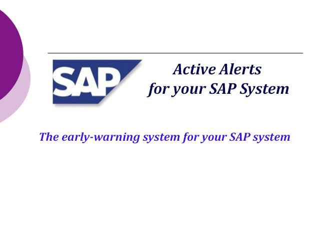 Active-Alerts-for-your-SAP-System